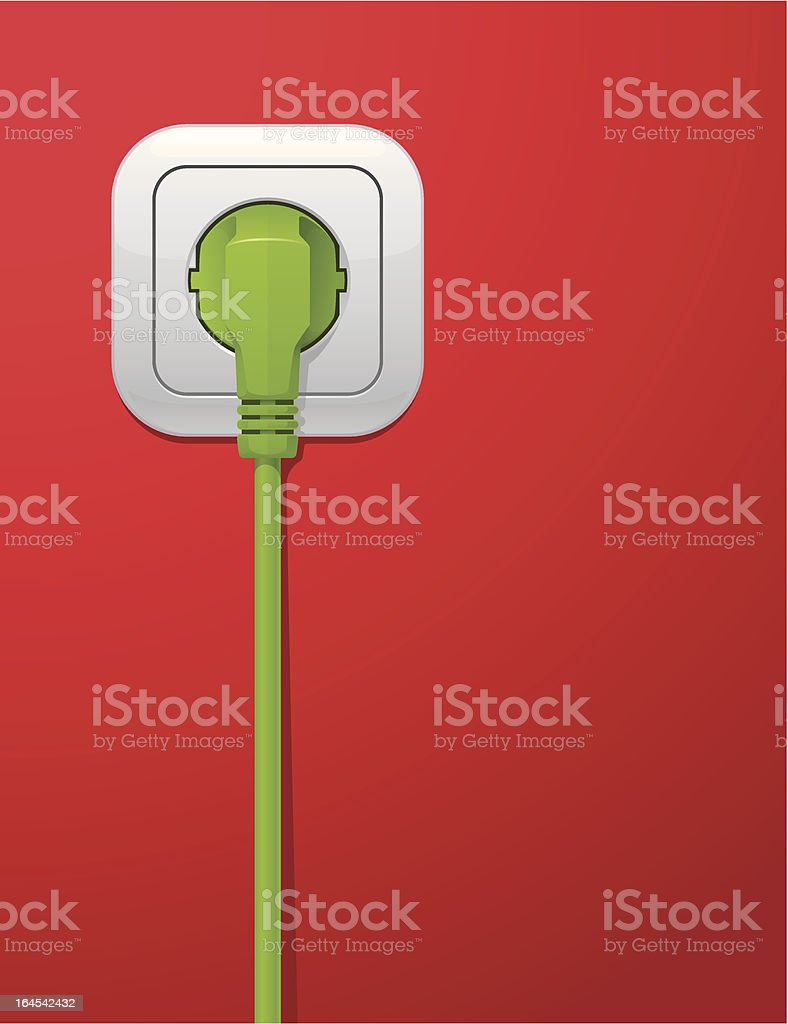 Power Outlet royalty-free stock vector art