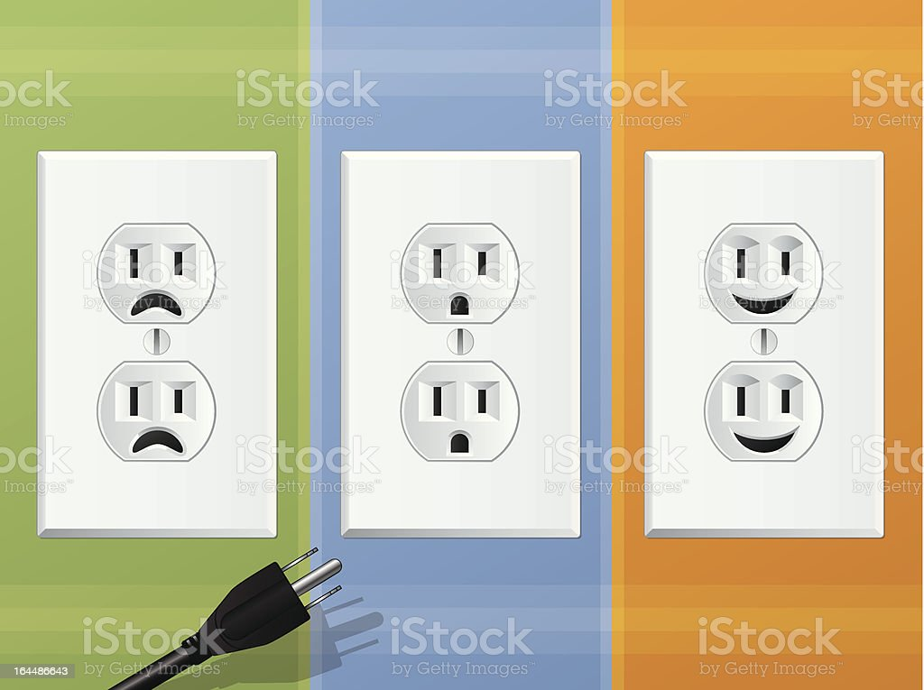 Power Outlets vector art illustration
