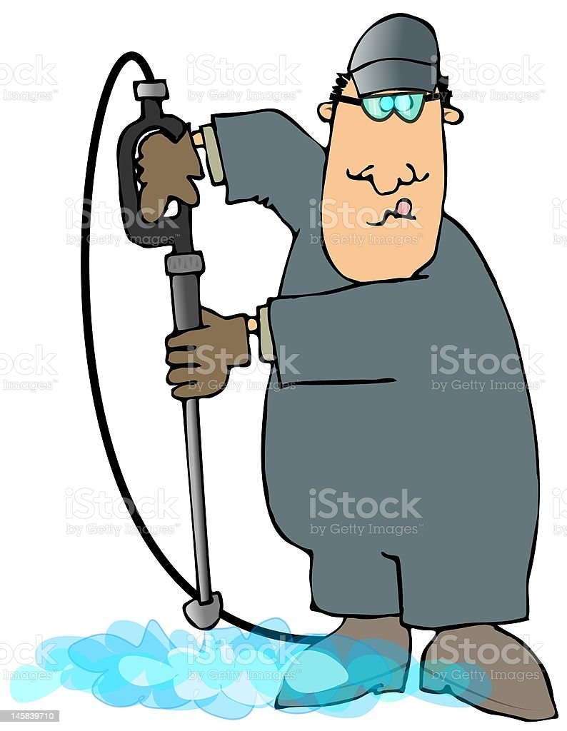 Power Washer royalty-free stock vector art