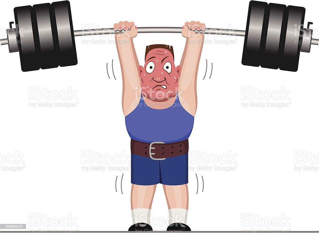 Powerlifter vector art illustration
