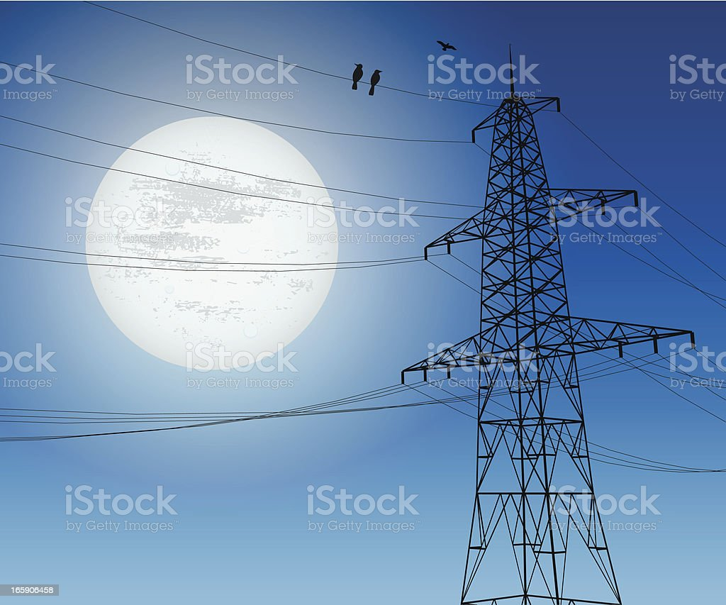 Powerlines royalty-free stock vector art