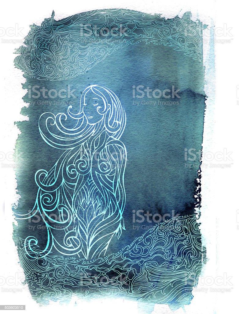 pregnant in bliss vector art illustration