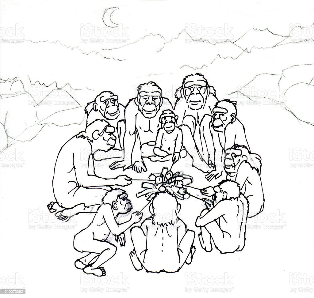 Vor-Mensch Lizenzfreies vektor illustration
