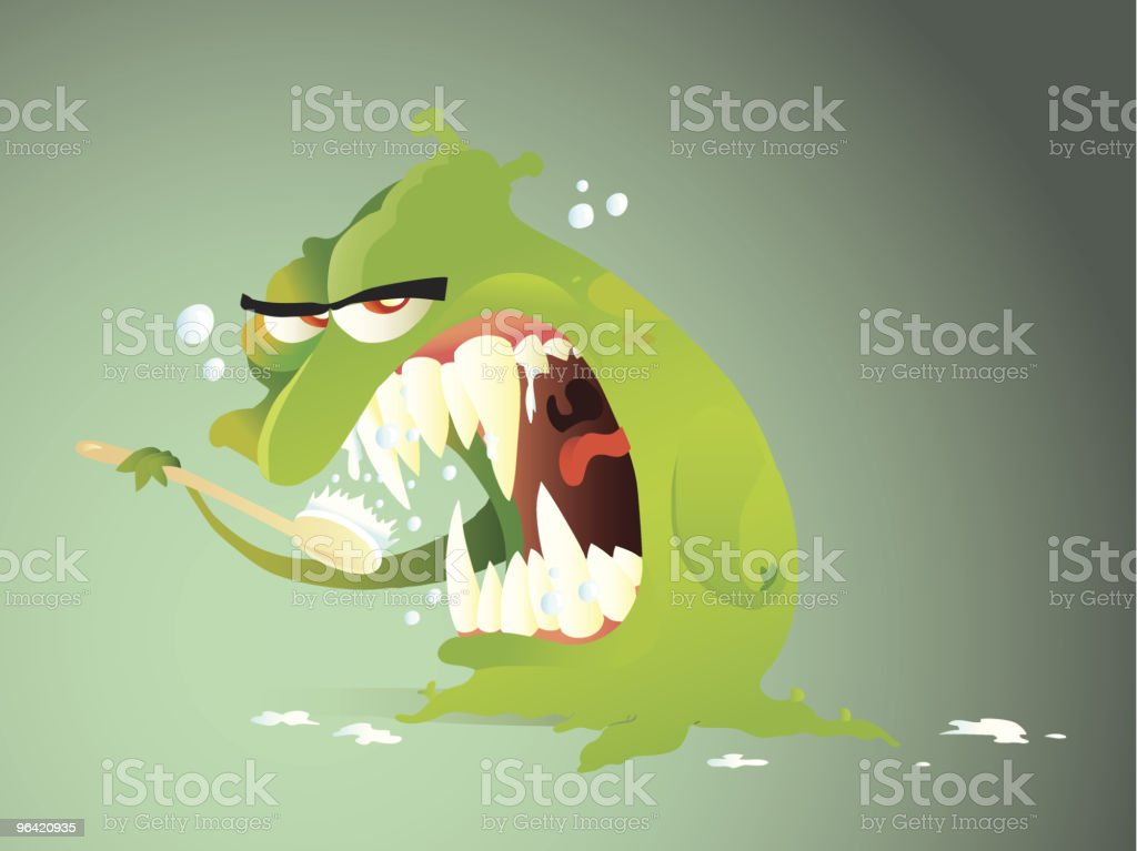 Preparing to scare royalty-free stock vector art