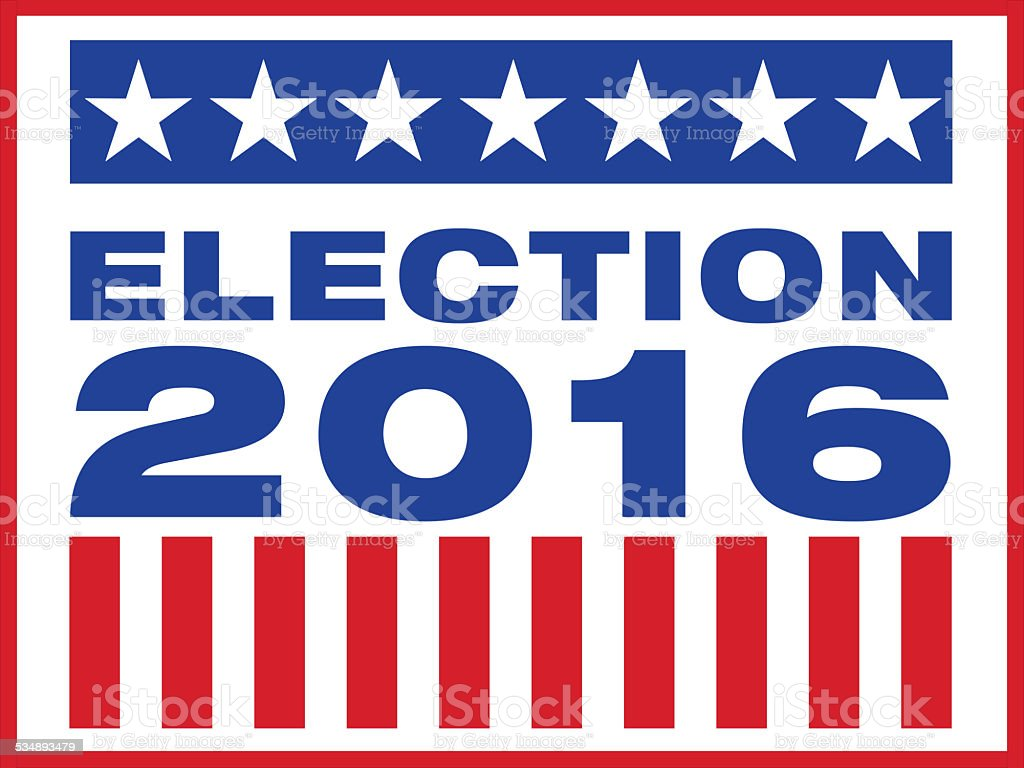 Presedential election day 2016 for president of the united states vector art illustration