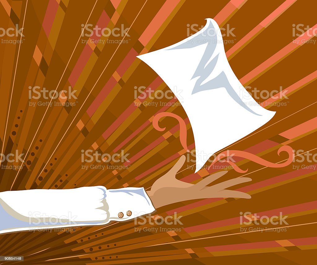 Presenting A Page royalty-free stock vector art