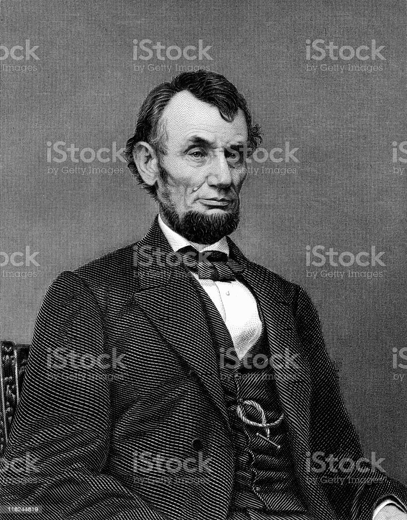 President Abraham Lincoln vector art illustration