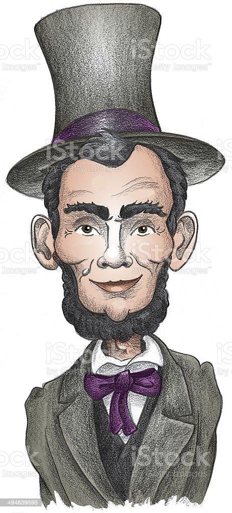 President Abraham Lincoln vector art illustration