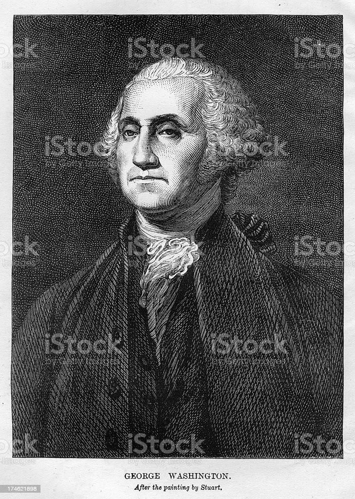 President George Washington royalty-free stock vector art
