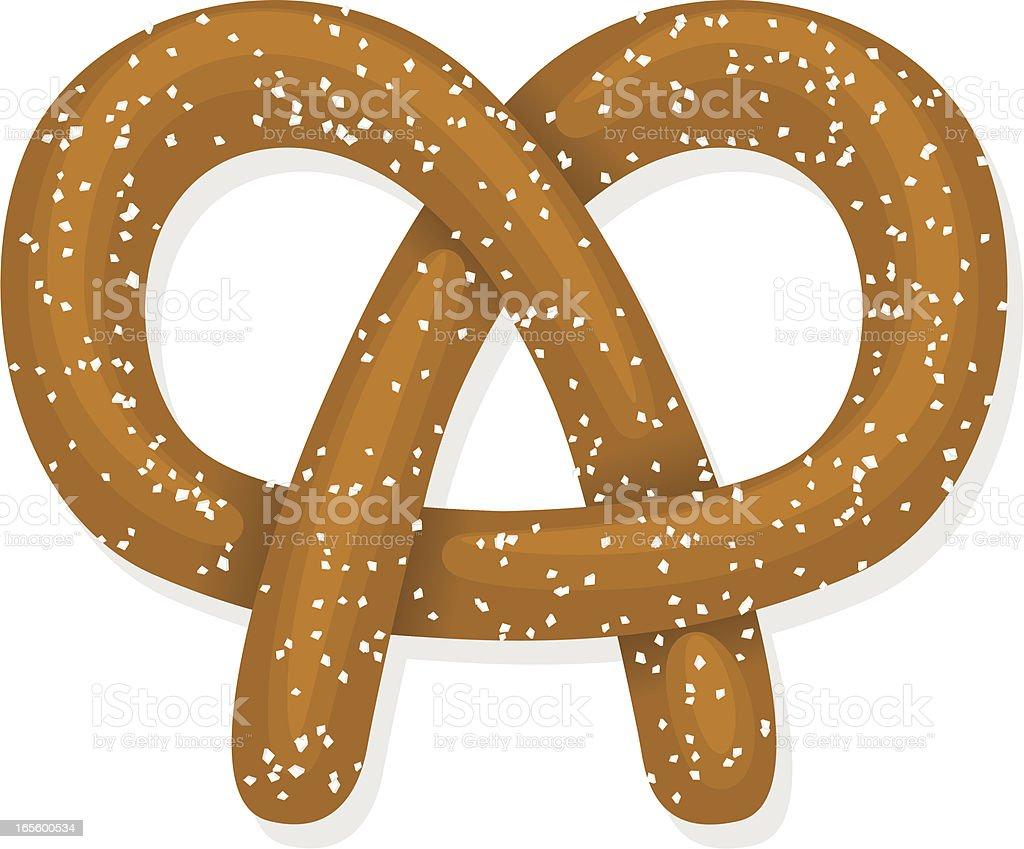 pretzel royalty-free stock vector art