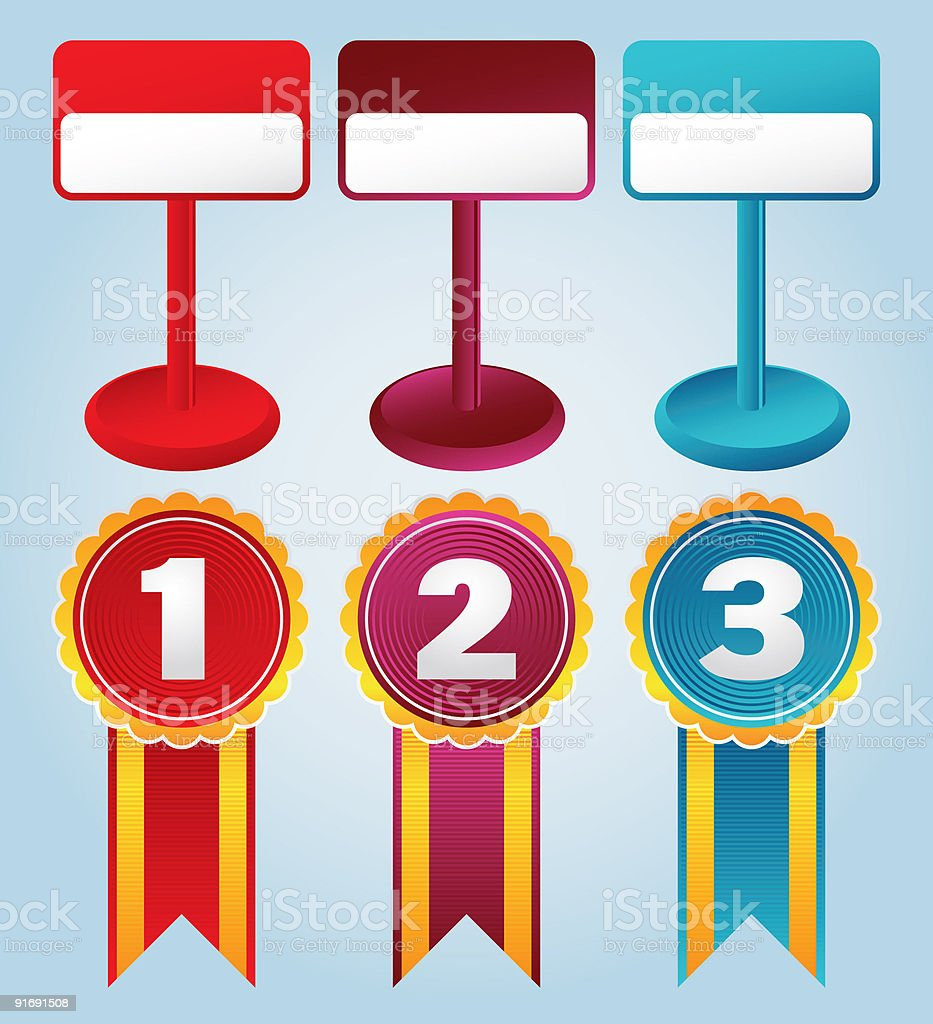prices and awards royalty-free stock vector art