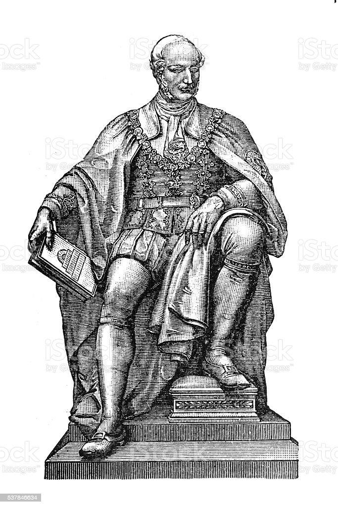 Prince Albert vector art illustration