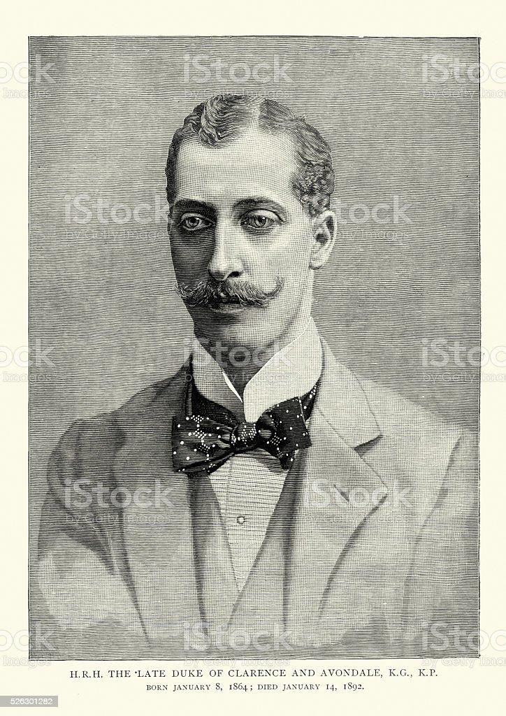 Prince Albert Victor, Duke of Clarence and Avondale vector art illustration