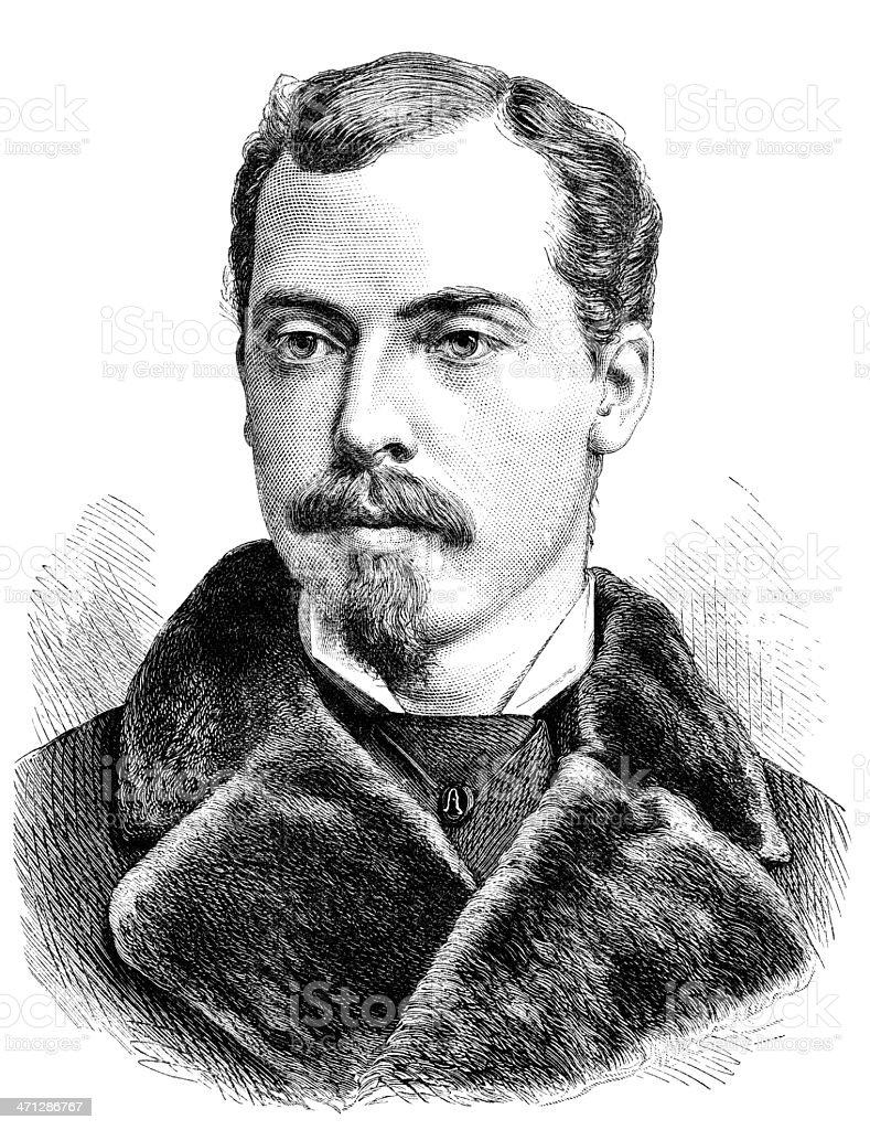 Prince Leopold, Duke of Albany (Victorian illustration) royalty-free stock vector art