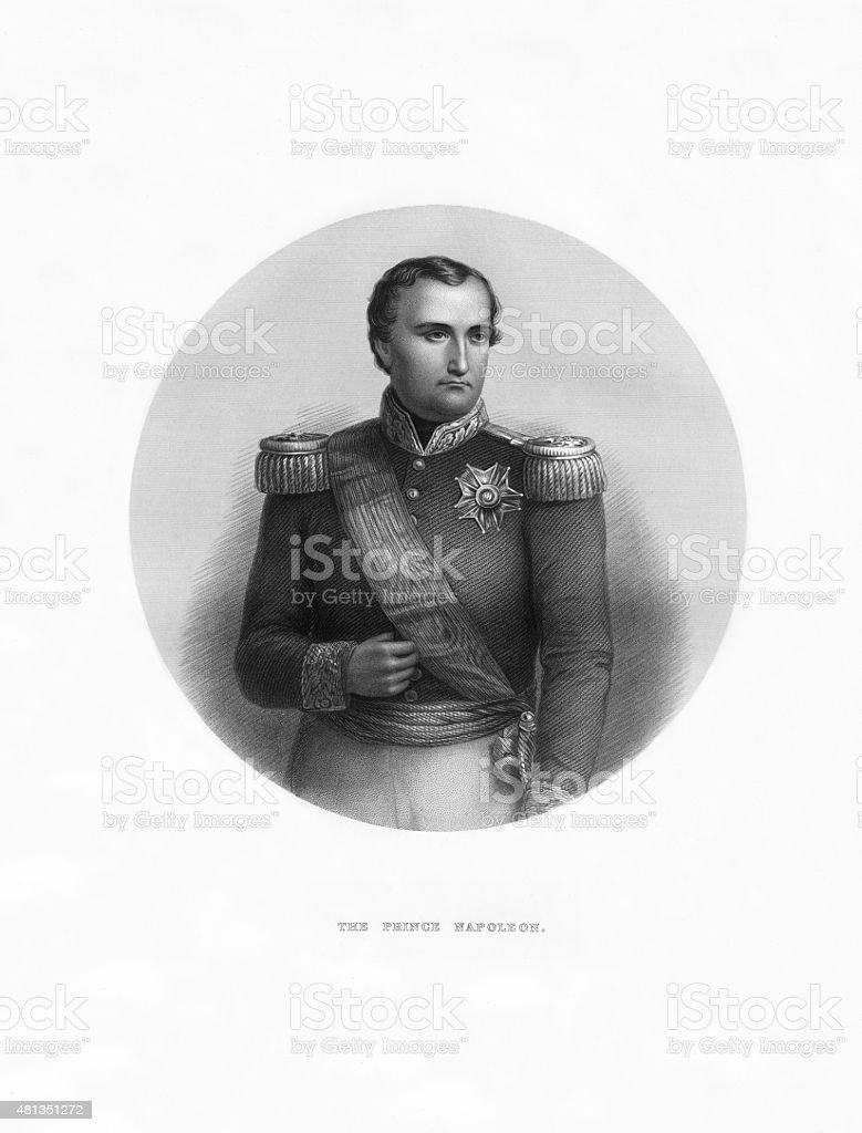 Prince Napoleon of Italy Victorian Engraving vector art illustration