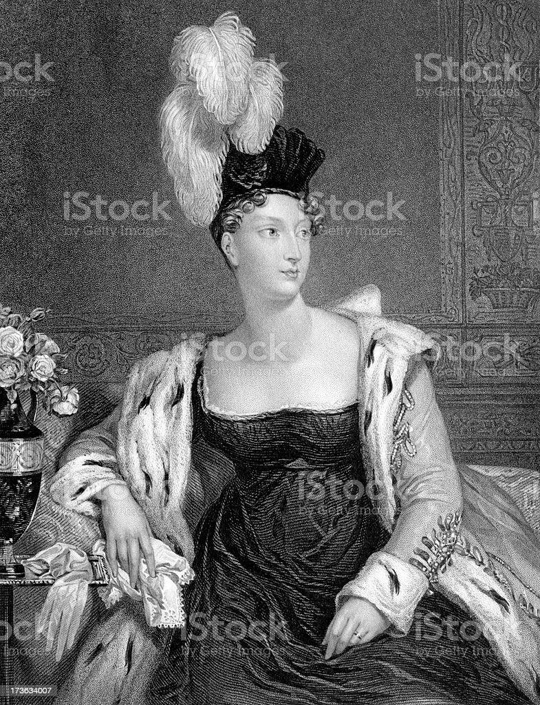 Princess Charlotte Augusta of Wales royalty-free stock vector art