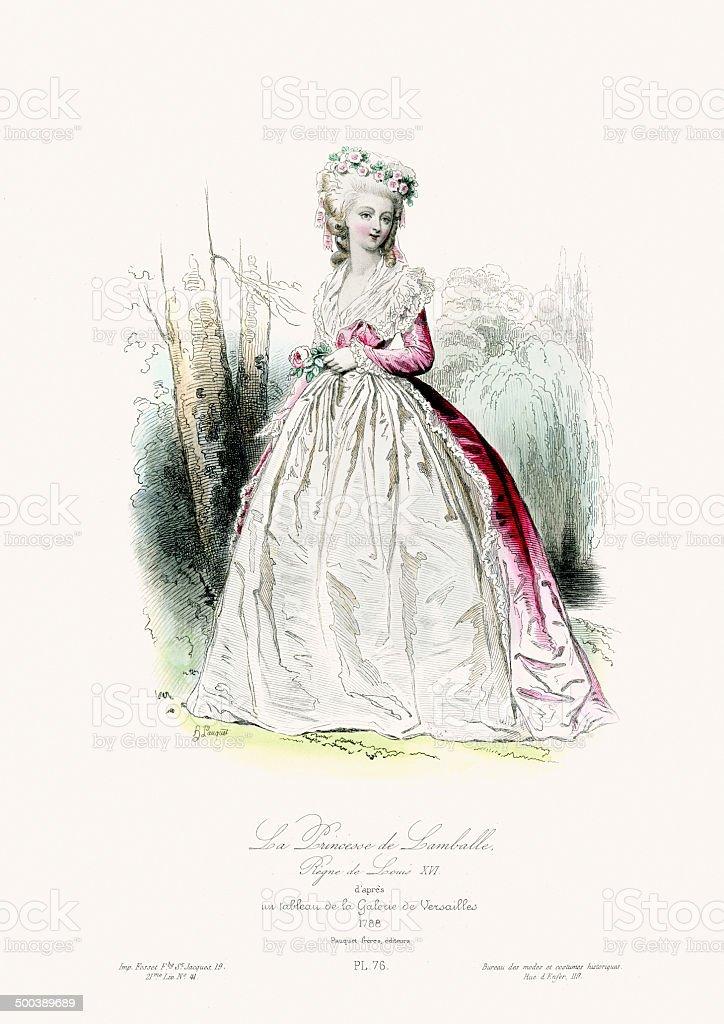 Princess de Lamballe royalty-free stock vector art