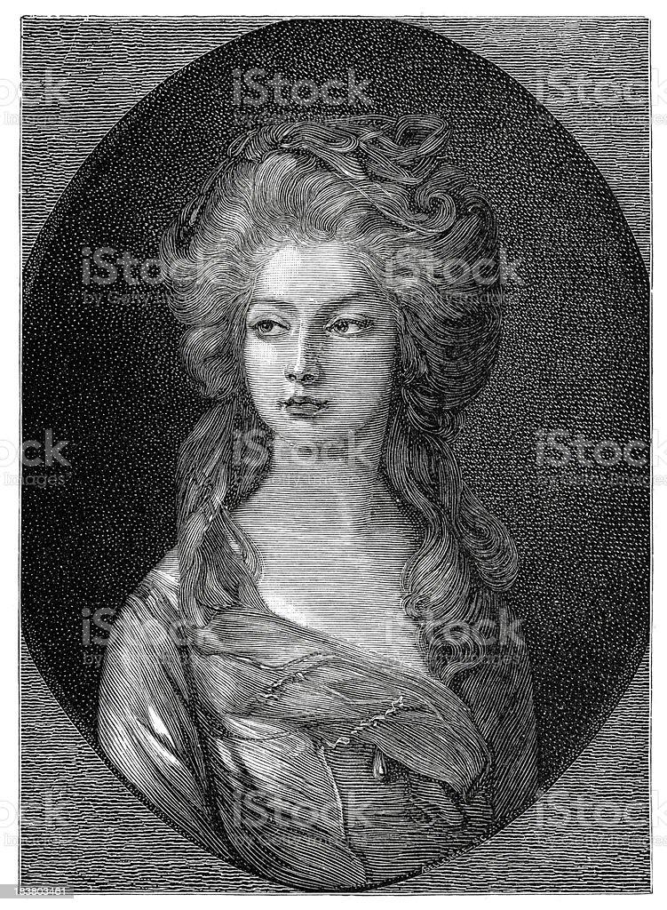 Princess Elizabeth of the United Kingdom vector art illustration