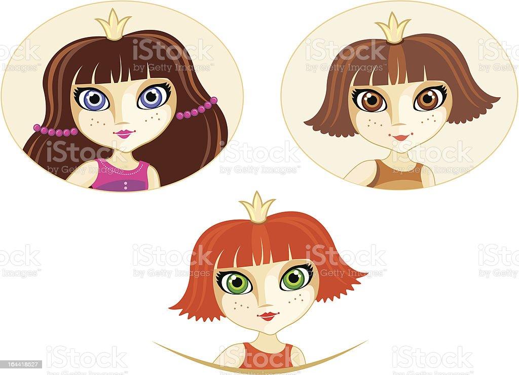 Princesses royalty-free stock vector art