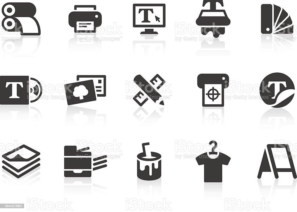 Print icons vector art illustration