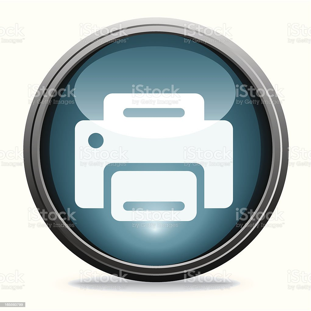 Printer   Glass Collection royalty-free stock vector art