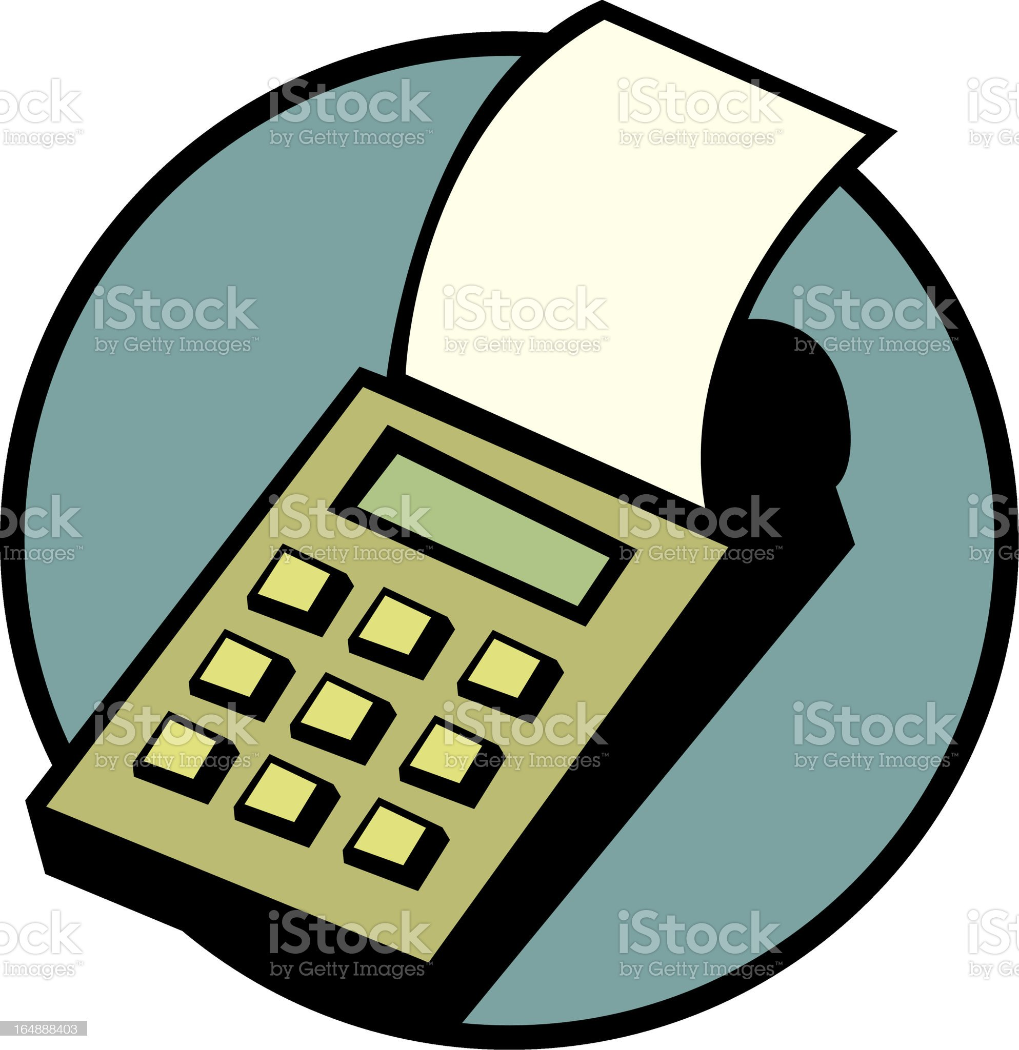 printing calculator royalty-free stock vector art