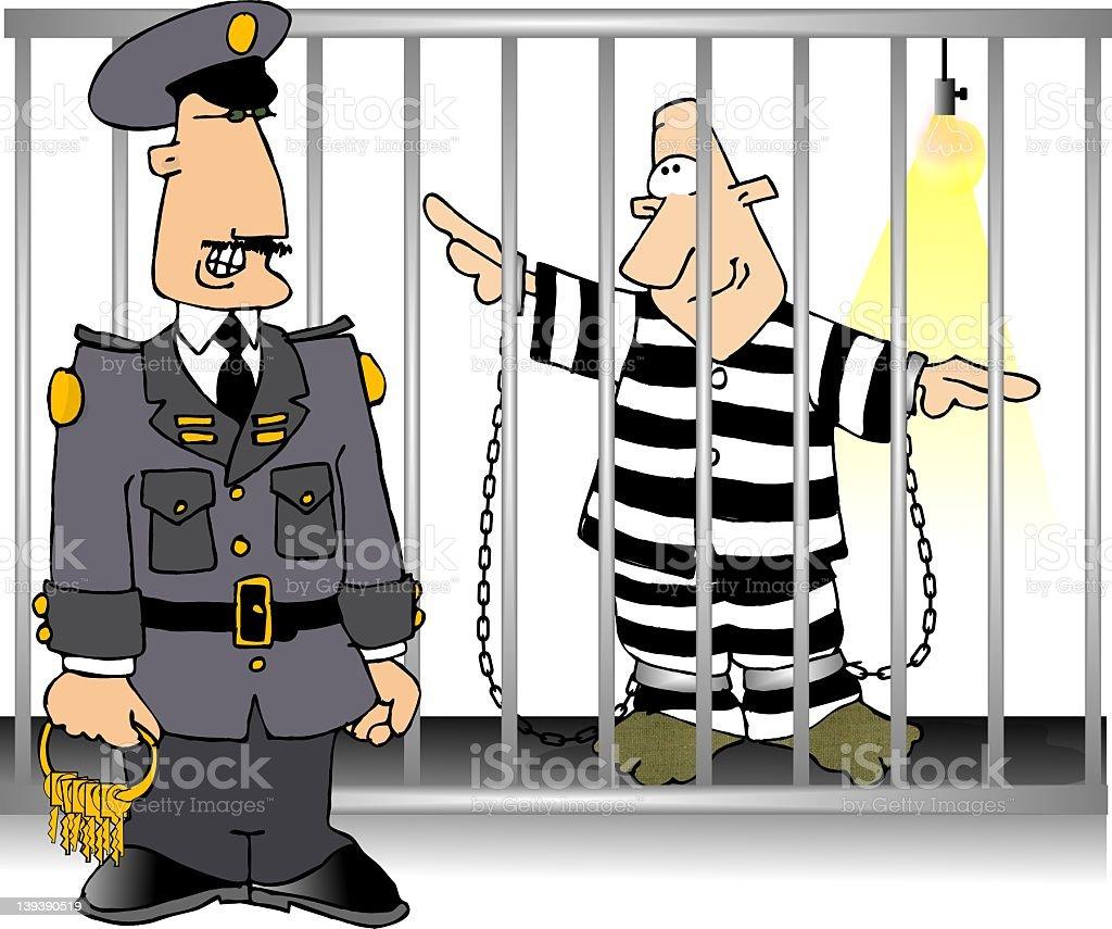 Prison guard royalty-free stock vector art