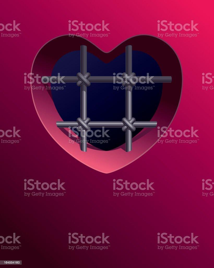 Prison of heart vector art illustration
