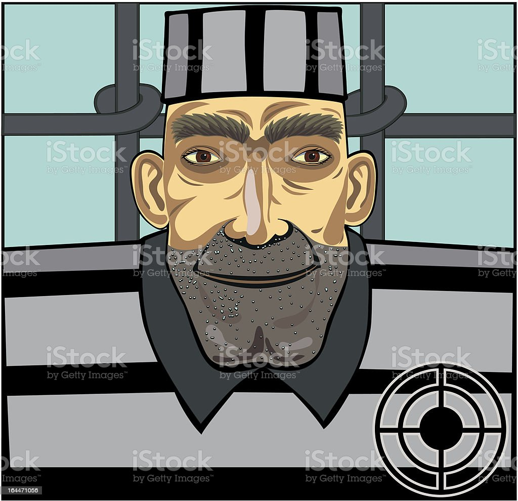 Prisoner royalty-free stock vector art