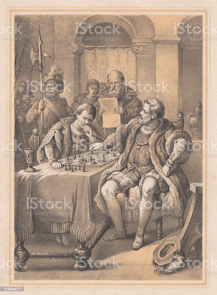 Prisoner John Frederick I of Saxony of Emperor Charles V vector art illustration