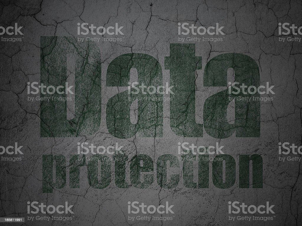 Privacy concept: Data Protection on grunge wall background royalty-free stock vector art
