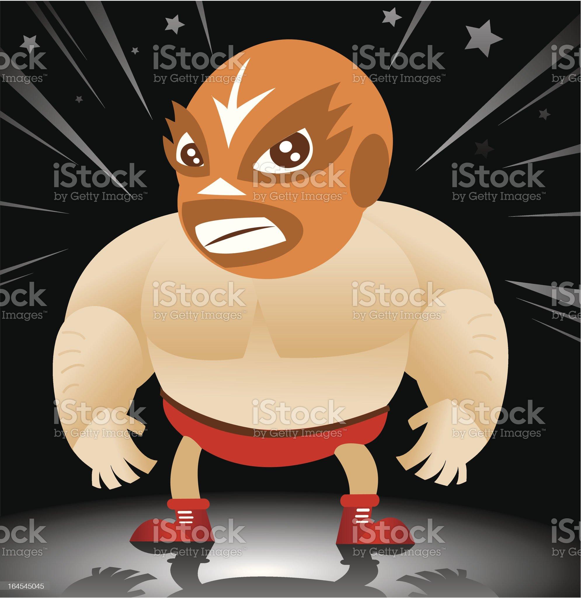 Pro Wrestler royalty-free stock vector art
