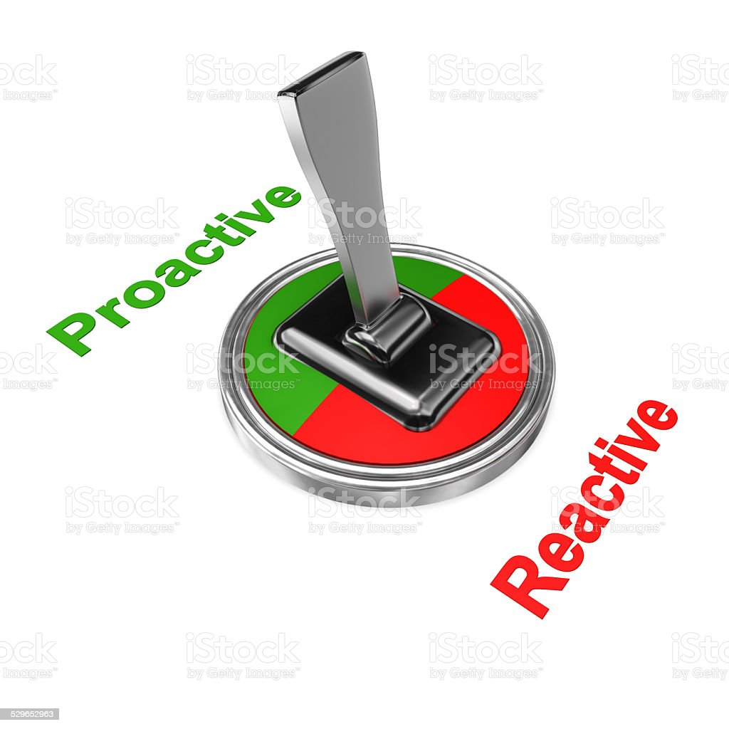 Proactive Reactive vector art illustration