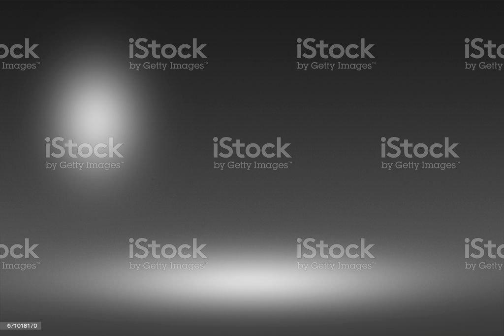 Product Showscase Spotlight on Black Background - Soft and Fuzzy Infinite Dark Floor vector art illustration