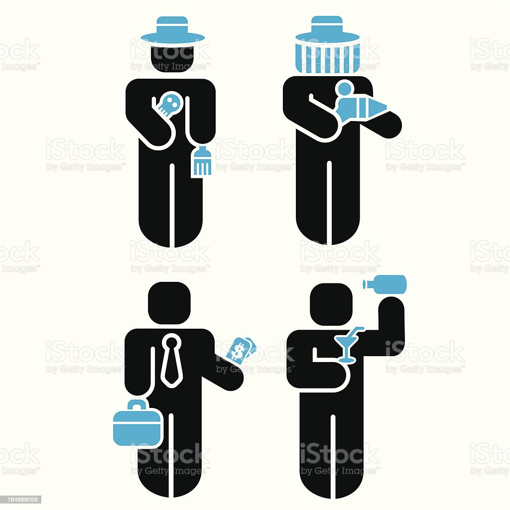 Profession Icons Series. vector art illustration