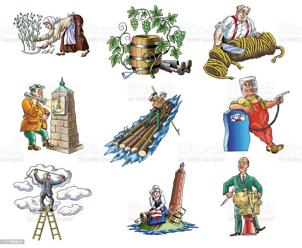 profession vector art illustration