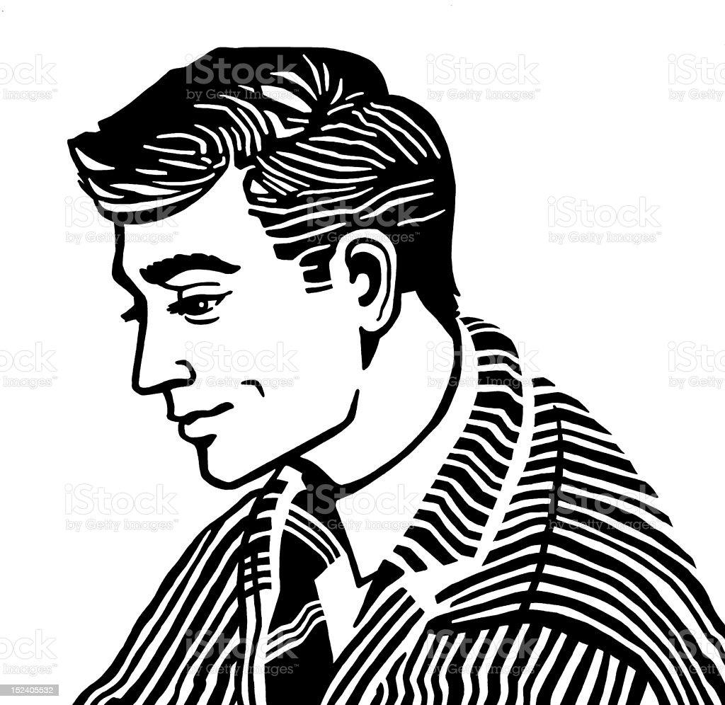 Profile of Man royalty-free stock vector art