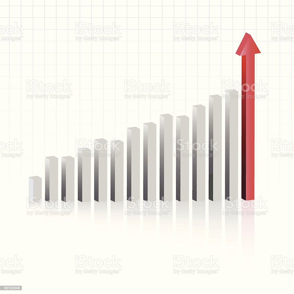 Profit in business chart vector art illustration