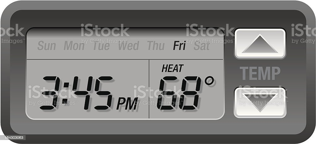 Programmable Digital Thermostat royalty-free stock vector art