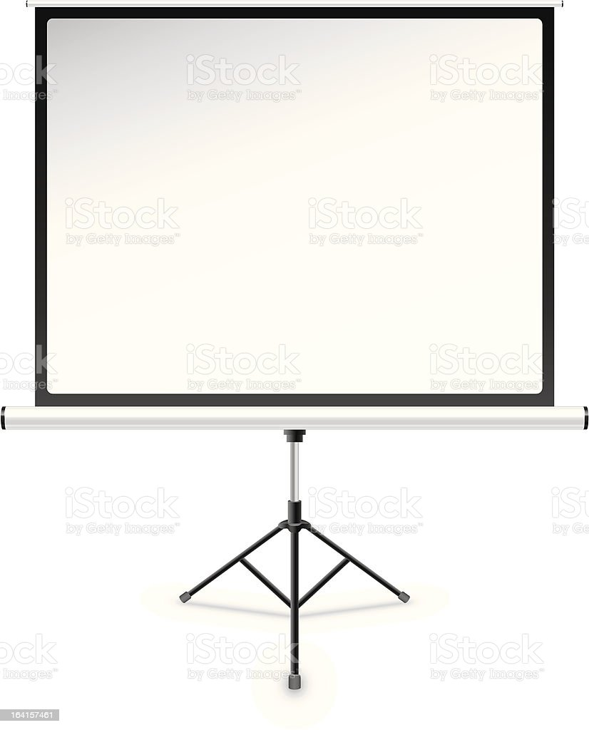 Projection screen royalty-free stock vector art