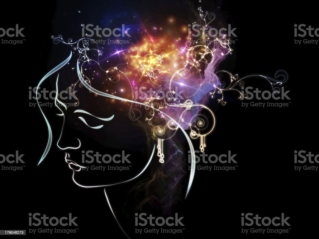 Propagation of Inner Thoughts royalty-free stock vector art