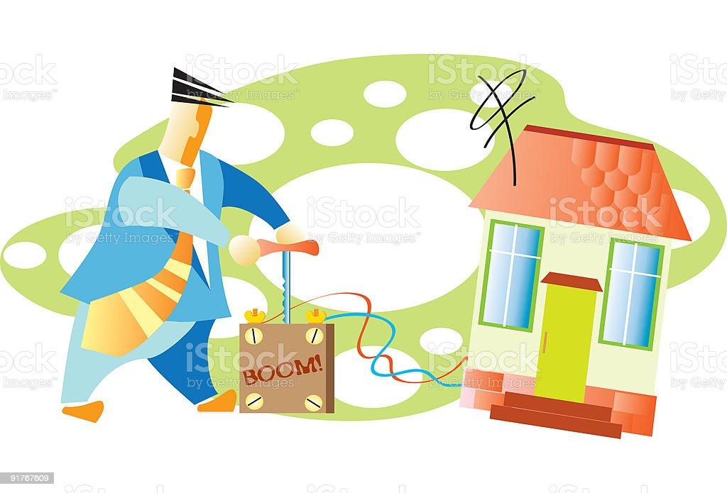 Property liquidation vector art illustration