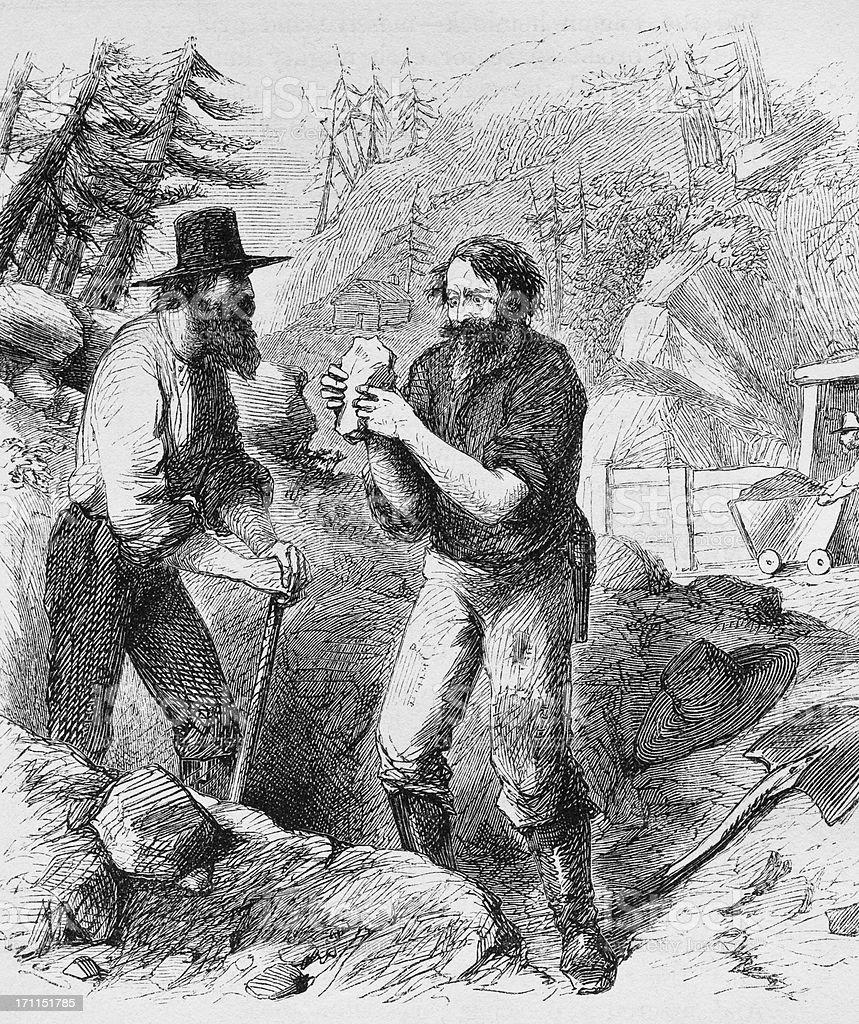 Prospectors royalty-free stock vector art
