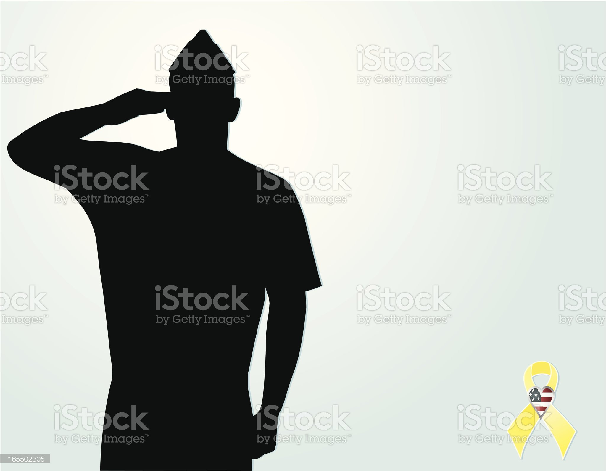 Protect our Troops royalty-free stock vector art