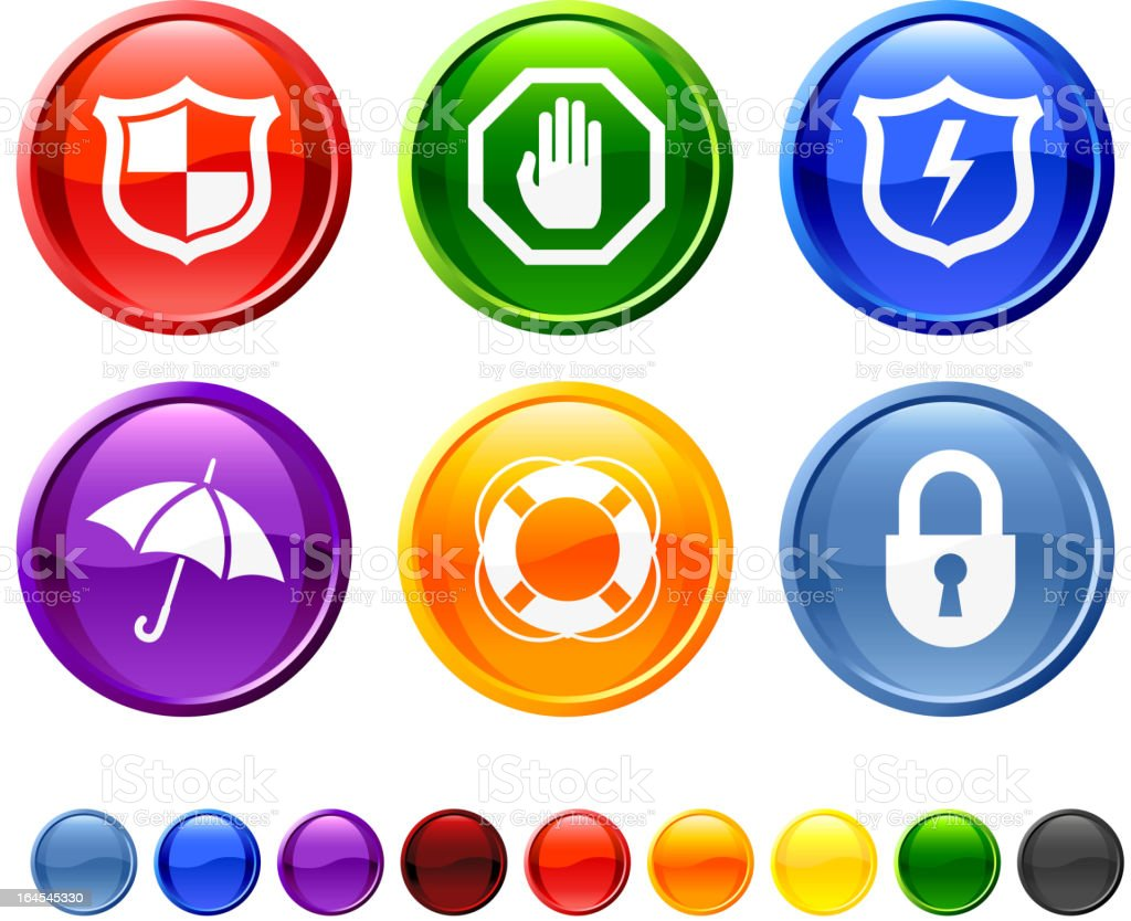 Protection royalty free vector icon set royalty-free stock vector art
