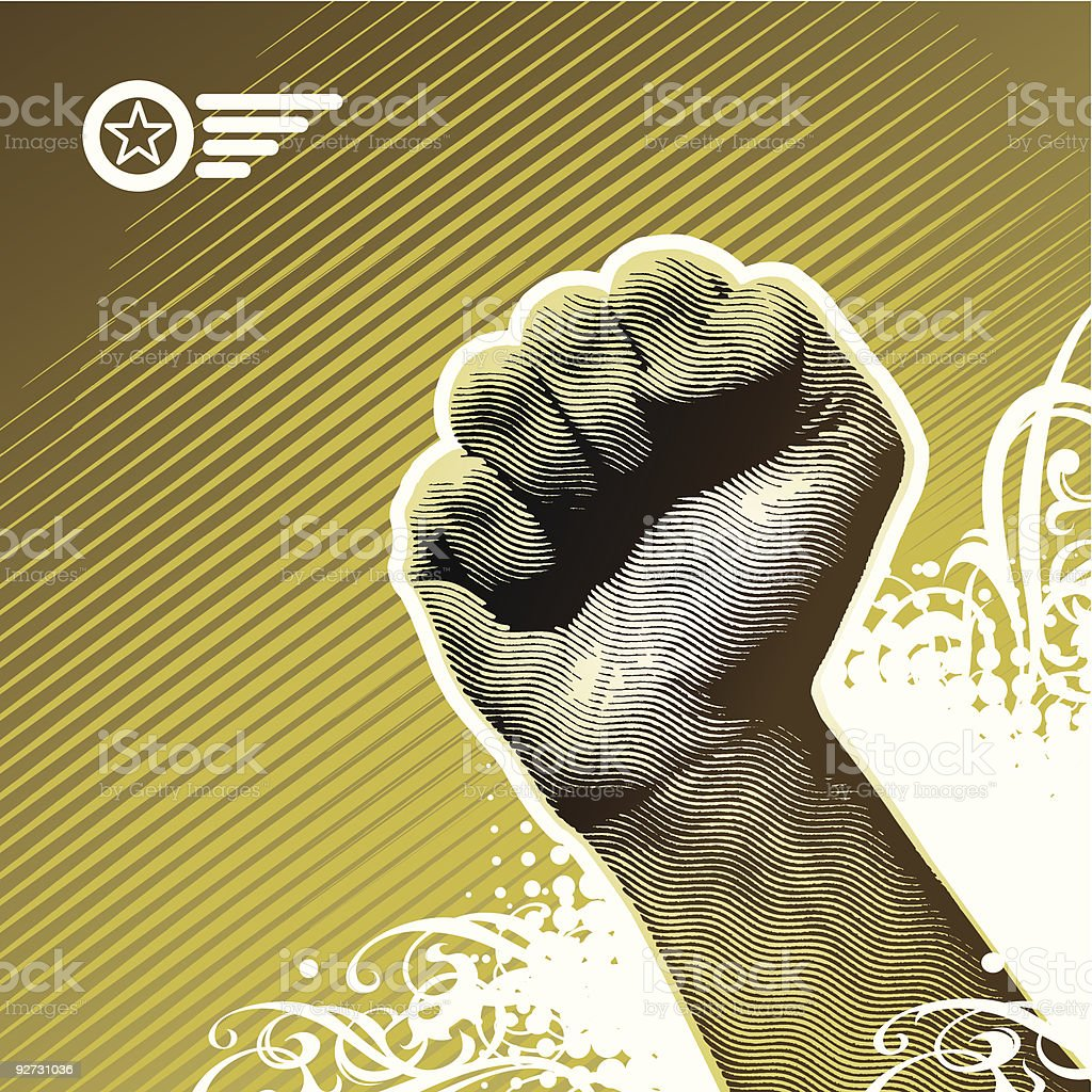 Protest hand royalty-free stock vector art
