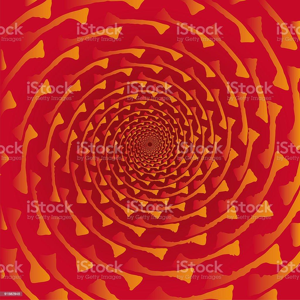Pseudo spiral 01 royalty-free stock vector art
