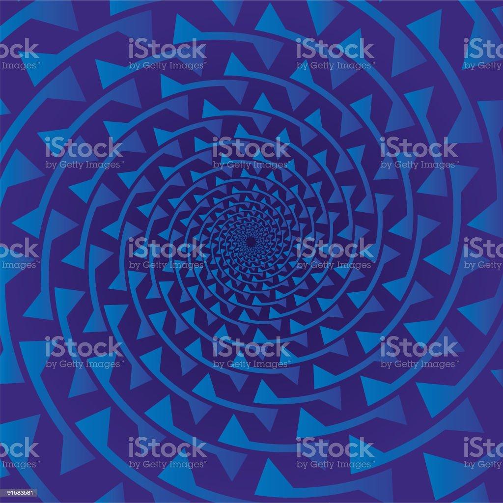 Pseudo spiral 02 vector art illustration