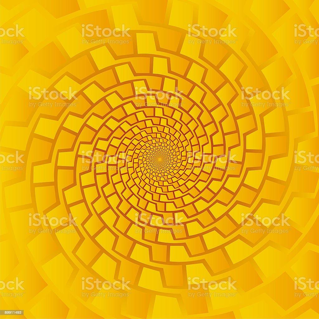Pseudo spiral 04 vector art illustration