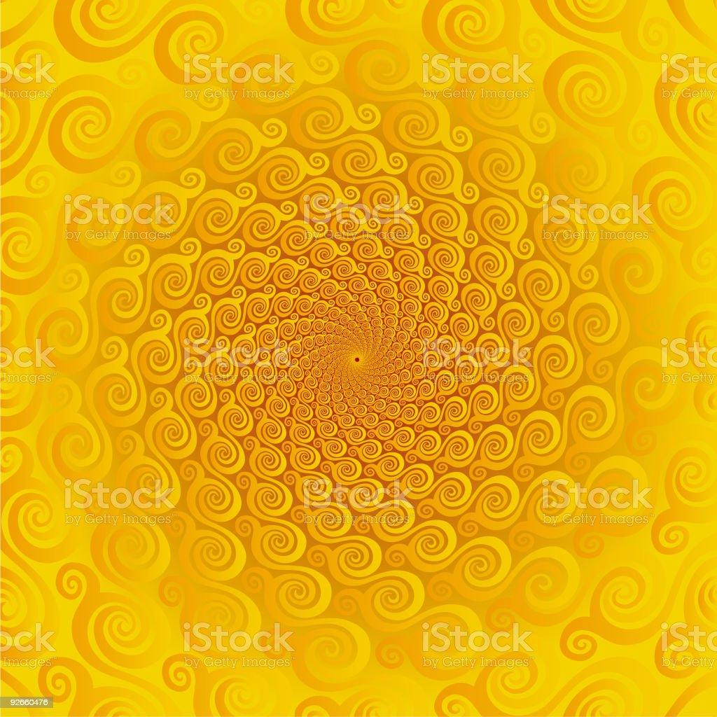 Pseudo spiral 05 royalty-free stock vector art